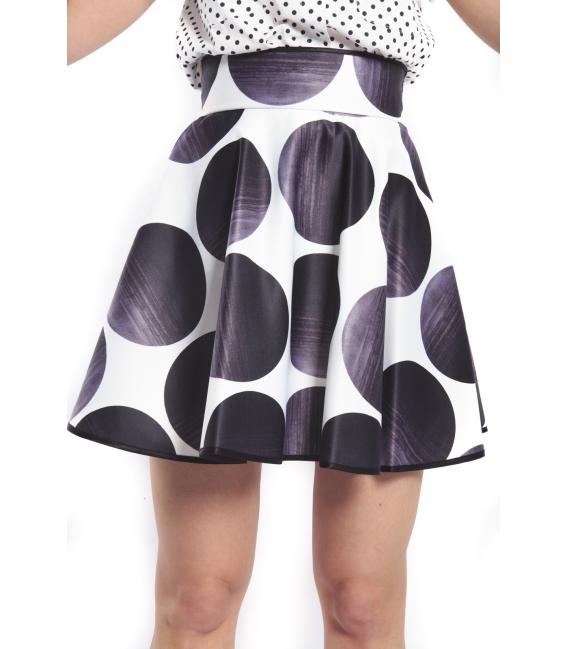 DENNY ROSE Skirt with pois BLACK 46DR71001