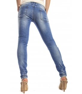 WIYA Jeans slim fit with rips DENIM Art. EVE MADE IN ITALY