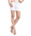 SLIDE OF LIFE Shorts baggy buttons WHITE art. 8283