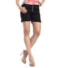 SLIDE OF LIFE Shorts baggy buttons BLACK art. 8283
