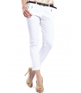 SLIDE OF LIFE Jeans cinos baggy with zip WHITE Art. 814257