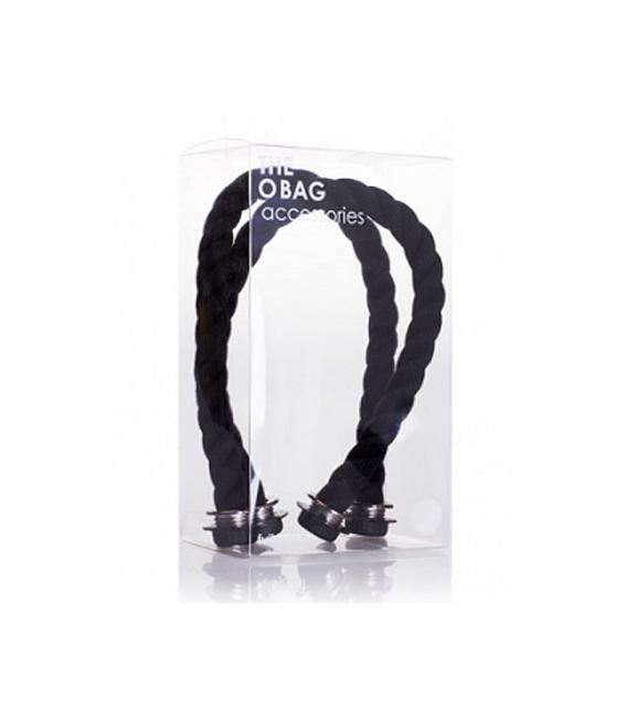 BLACK ROPE SHORT HANDLES O'BAG