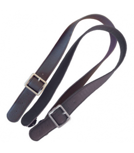 FLAT DARK BROWN HANDLES O'BAG