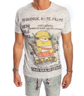 GIANNI LUPO T-shirt with print MINIONS GREY Art. 1816-19