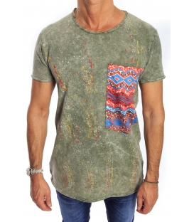 GIANNI LUPO T-shirt with pocket GREEN Art. 1842