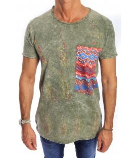 GIANNI LUPO T-shirt con tasca VERDE Art. 1842