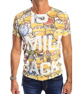 GIANNI LUPO T-shirt con stampa YELLOW Art. 1816-13