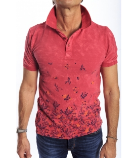 GIANNI LUPO Polo with print RED Art. 8423
