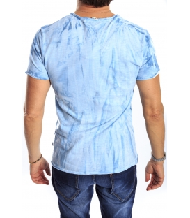 GIANNI LUPO T-shirt con stampa AZZURRO Art. 1816-5