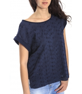 SUSY MIX T-shirt in sangallo BLU Art. 1576