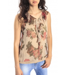 SUSY MIX T-shirt / Blusa in fantasia BEIGE Art. 16013