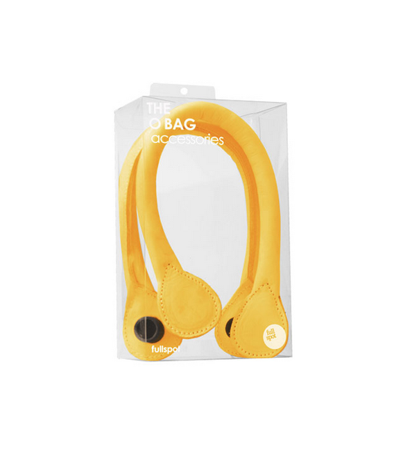 SHORT FAUX LEATHER YELLOW HANDLES O'BAG
