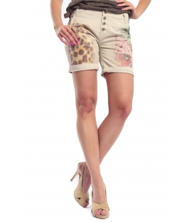 MARYLEY Short boyfriend baggy WASHED BEIGE B676