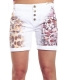 MARYLEY Shorts boyfriend baggy WASHED WHITE B54D MADE IN ITALY