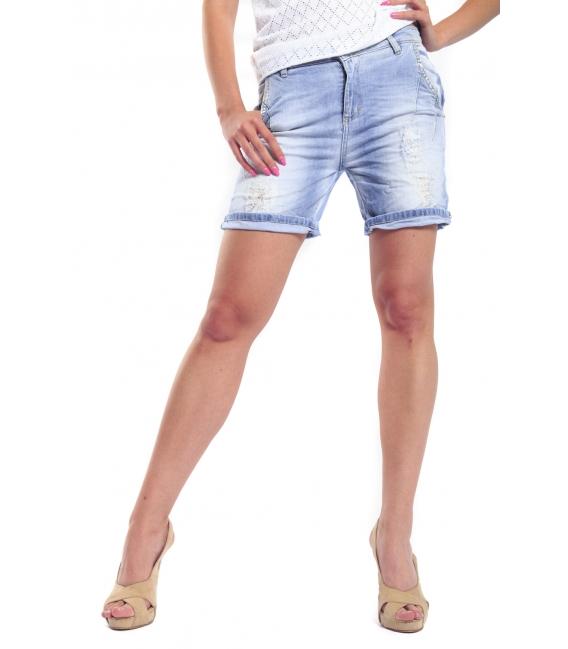 MARYLEY Shorts boyfriend baggy DENIM B51F MADE IN ITALY