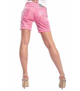 MARYLEY Shorts slim fit FANTASY PINK B67C MADE IN ITALY