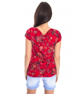 SUSY MIX T-shirt con stampa fiori RED FANTASY Art. 15489