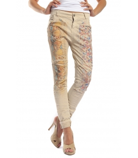 MARYLEY Jeans boyfriend baggy FANTASY con stampa Art. B51E