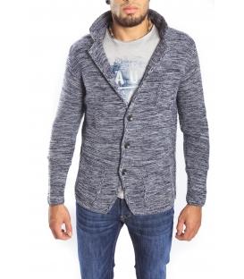 Gaudi Jeans - giacca in maglia blu/grigio 52bu56001