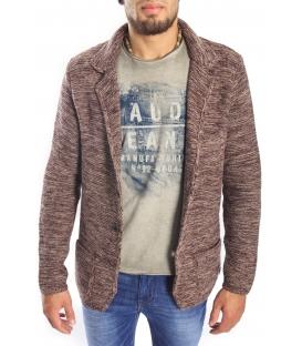 Gaudi Jeans - giacca in maglia beige/bordeaux 52bu56001