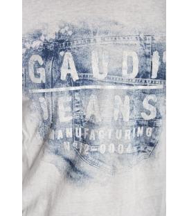 Gaudi Jeans - maglia in cotone con stampa Grigia 52bu67181