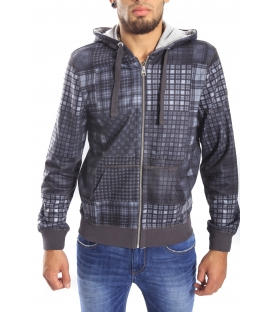 Gaudi Jeans - Sweatshirt with zip and hood GREY 52bu64003np