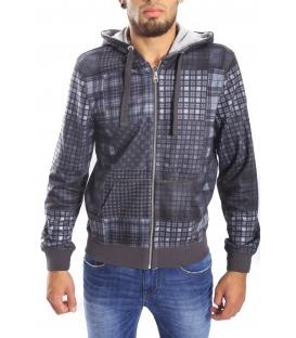 Gaudi Jeans - Felpa con zip con cappuccio GRIGIO 52bu64003np