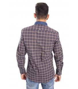 Antony Morato Shirt fantasy squares CANNELLA mmsl00269