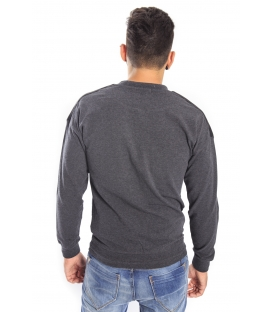 Antony Morato Sweatshirt with eco- leather detail mmfl00197