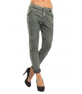 MARYLEY Jeans Boyfriend baggy con effetto felpa GREEN Art. B60Z/E01