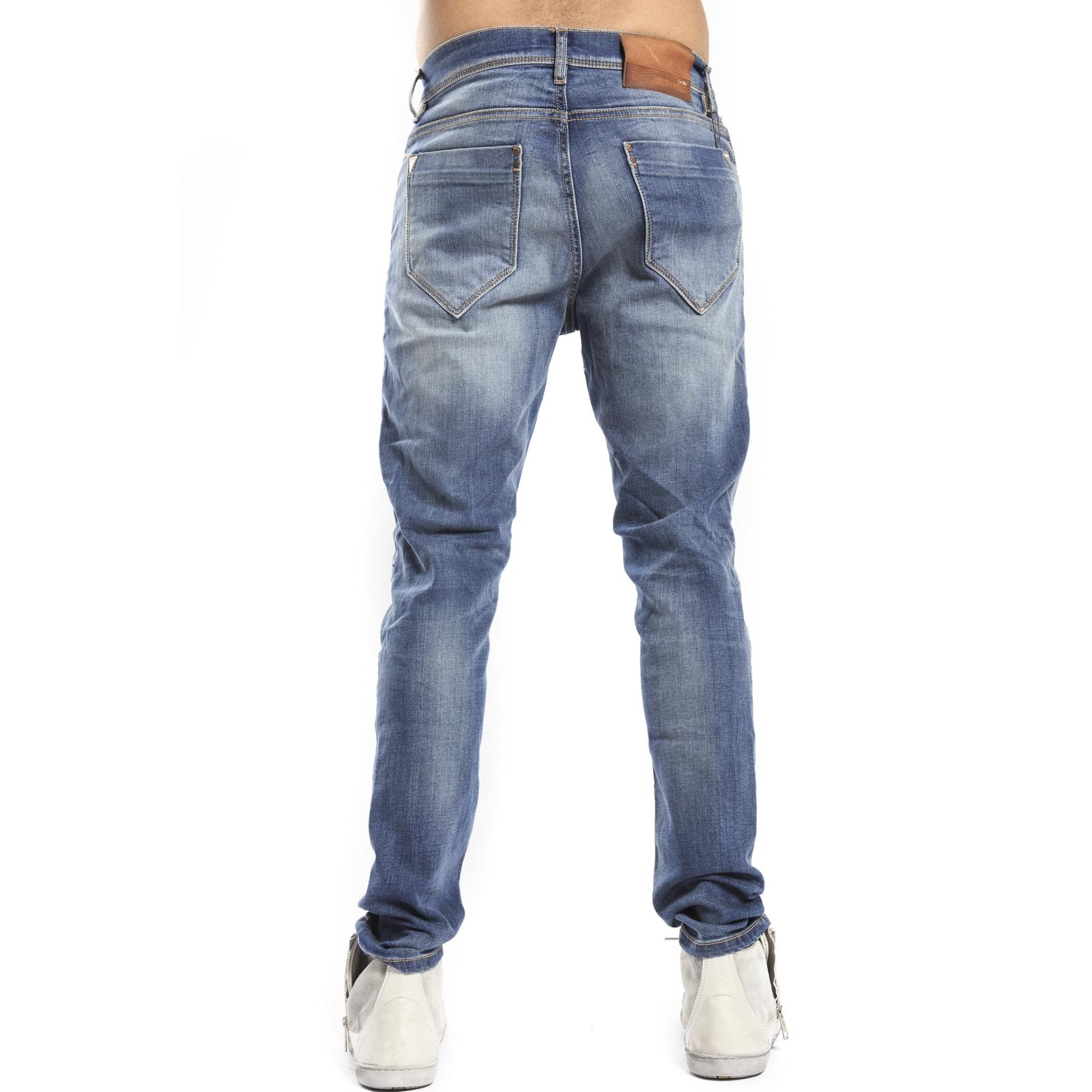 Antony Morato Jeans Duran stretch carrot Blu denim MMDT00126 FA750099 c1e60e5c59c