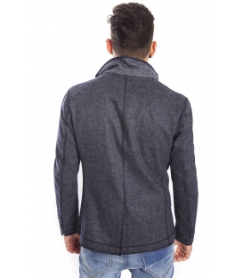 Antony Morato Jacket slim 2 buttons + zip BLUE MMJA00171