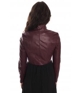 RINASCIMENTO Jacket n eco-leather BORDEAUX Art. CFC0069951003