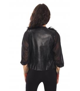 RINASCIMENTO Gilet in eco pelliccia FANTASY BLACK Art. CFC0069689003