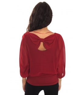 RINASCIMENTO Blouse with bow RED Art. CFC0069953003
