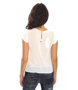 RINASCIMENTO Blouse / Top short sleeve WHITE Art. CFC0069665003
