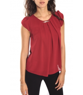 RINASCIMENTO Blouse / Top short sleeve RED Art. CFC0069665003
