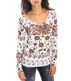 SUSY MIX Jersey in fantasy BEIGE with V neck Art. 61090