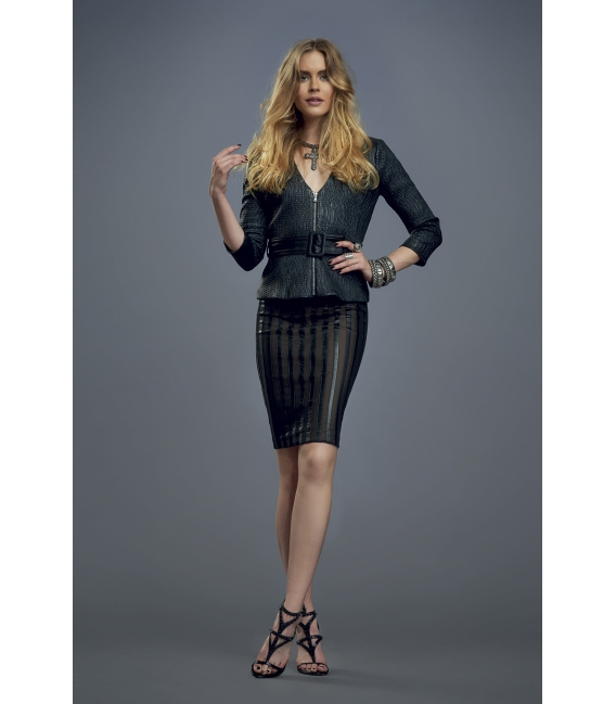 ALMAGORES Skirt with tulle BLACK Art. 541AL70758
