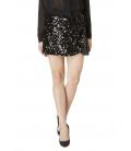 ALMAGORES Short skirt with paillettes BLACK Art. 541AL70754