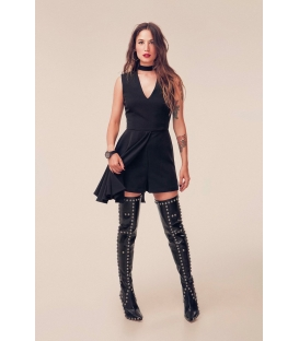 DENNY ROSE Jumpsuit / Short dress with zip BLACK 52DR21014