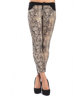 DENNY ROSE Pants leggings slim fit animalier BLACK 52DR21021