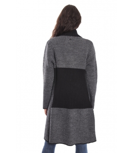 GRAFFIO Long coat with 2 buttons BLACK-GREY Art. WGD393