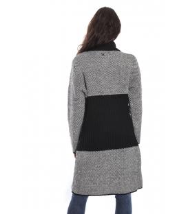 GRAFFIO Long coat with 2 buttons BLACK-PANNA Art. WGD393