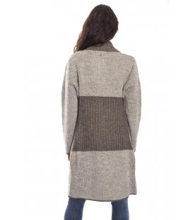 GRAFFIO Long coat with 2 buttons FANGO-BEIGE Art. WGD393