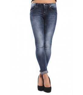 J-CUBE Jeans slim fit with zip col. DENIM Art. JC156