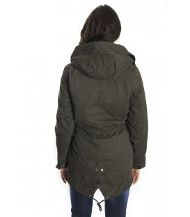 HOMEWARD Parka with zip and clips col. OLIVE Art. HLC364