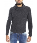 DIKTAT Sweater with neck detail DARK GREY Art. D77035
