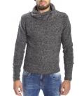 DIKTAT Sweater with neck detail FANTASY GREY Art. D77035