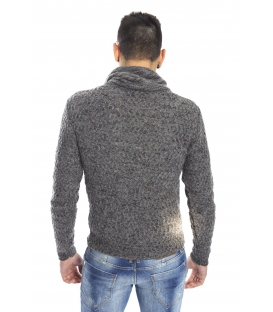 DIKTAT Sweater with neck detail FANTASY GREY Art. D77035